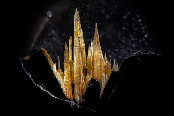 Image 2: Rutile on hematite in quartz. Image by Danny Sanchez